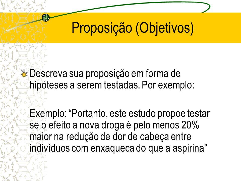 Proposição (Objetivos)