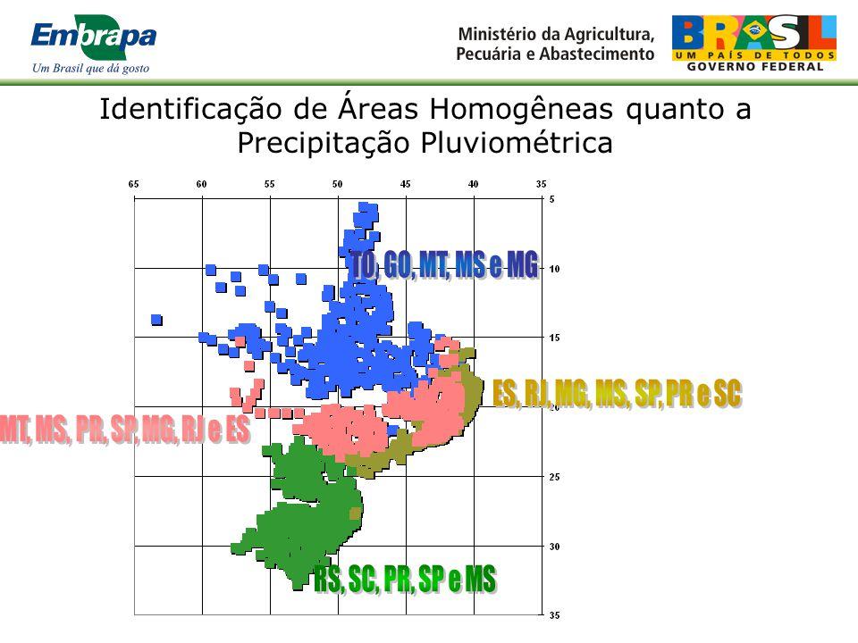 Identificação de Áreas Homogêneas quanto a Precipitação Pluviométrica