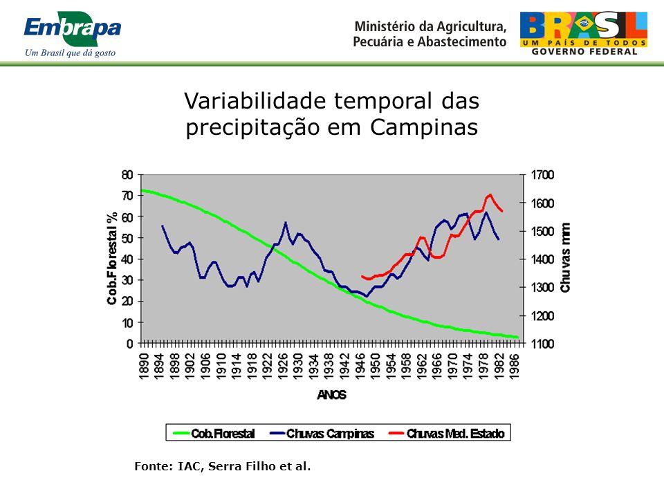 Variabilidade temporal das precipitação em Campinas