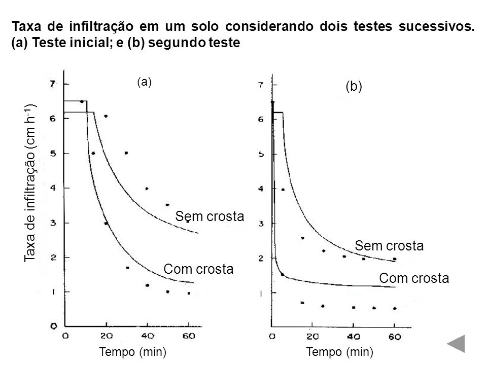 Taxa de infiltração (cm h-1)