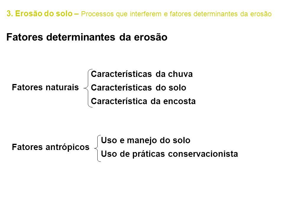 Fatores determinantes da erosão