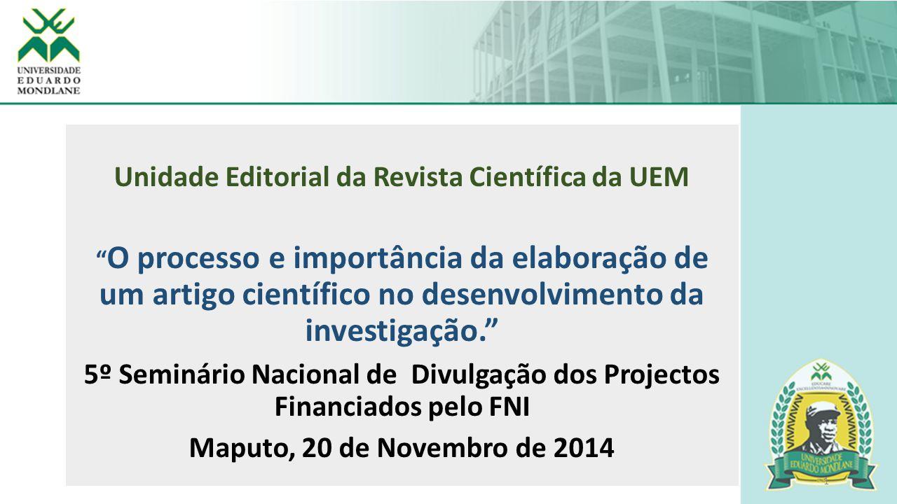 Unidade Editorial da Revista Científica da UEM