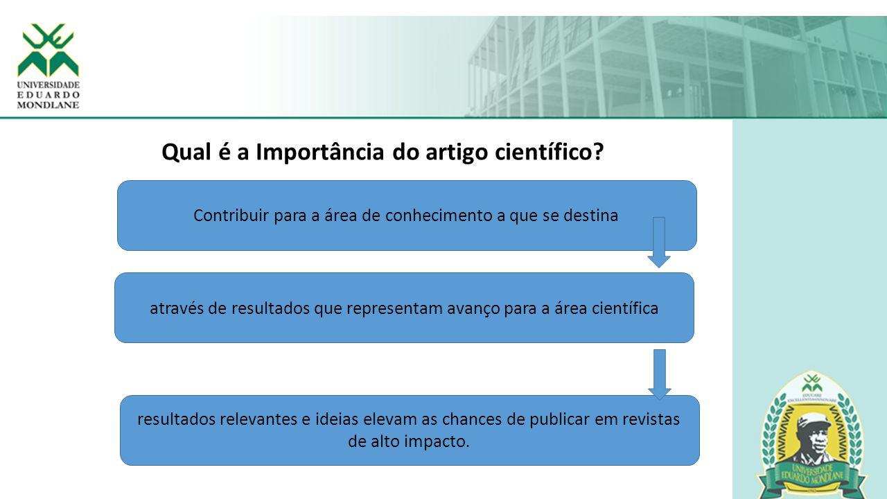 Qual é a Importância do artigo científico