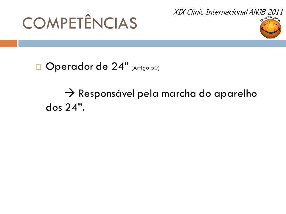 COMPETÊNCIAS Operador de 24 (Artigo 50)