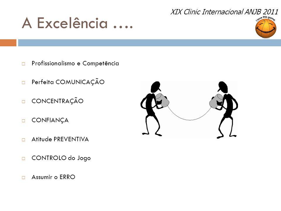 A Excelência …. XIX Clinic Internacional ANJB 2011