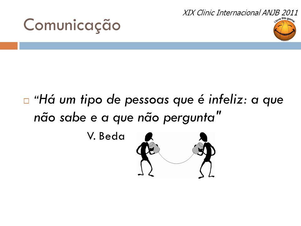 Comunicação XIX Clinic Internacional ANJB 2011. Há um tipo de pessoas que é infeliz: a que não sabe e a que não pergunta