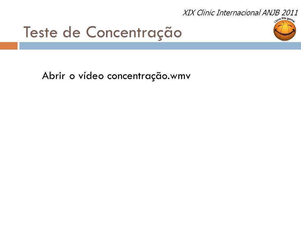 Teste de Concentração Abrir o vídeo concentração.wmv