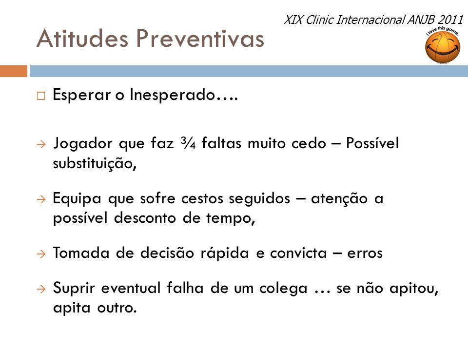 Atitudes Preventivas Esperar o Inesperado….