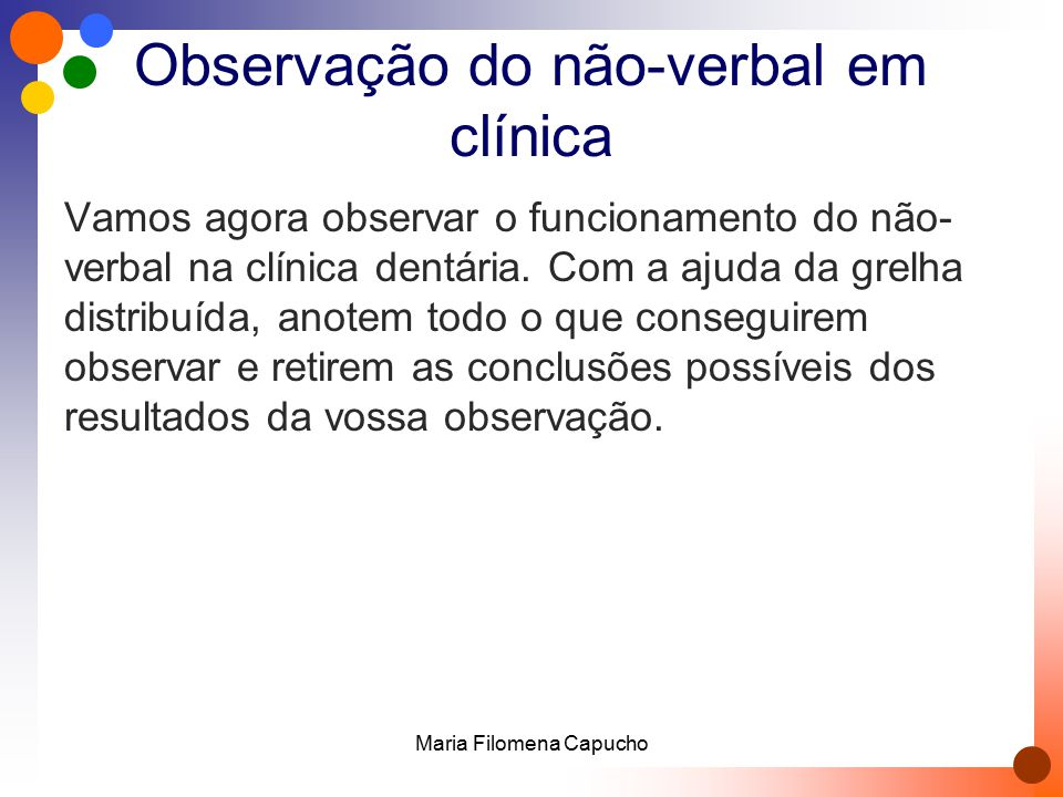 Observação do não-verbal em clínica
