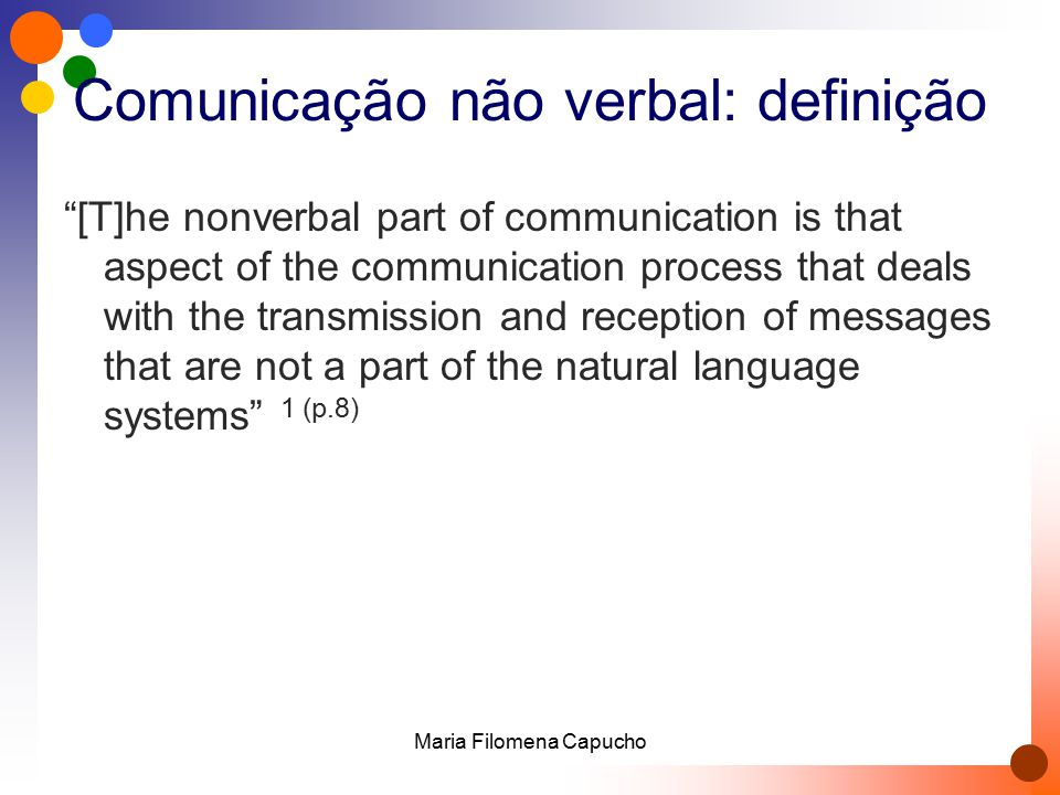 Comunicação não verbal: definição