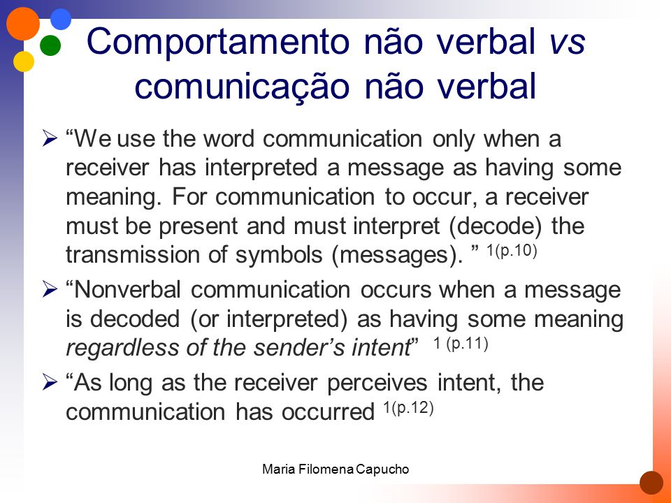 Comportamento não verbal vs comunicação não verbal