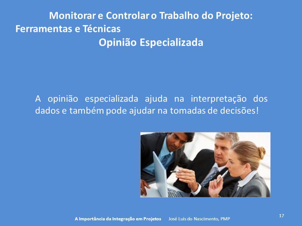 Monitorar e Controlar o Trabalho do Projeto: Opinião Especializada