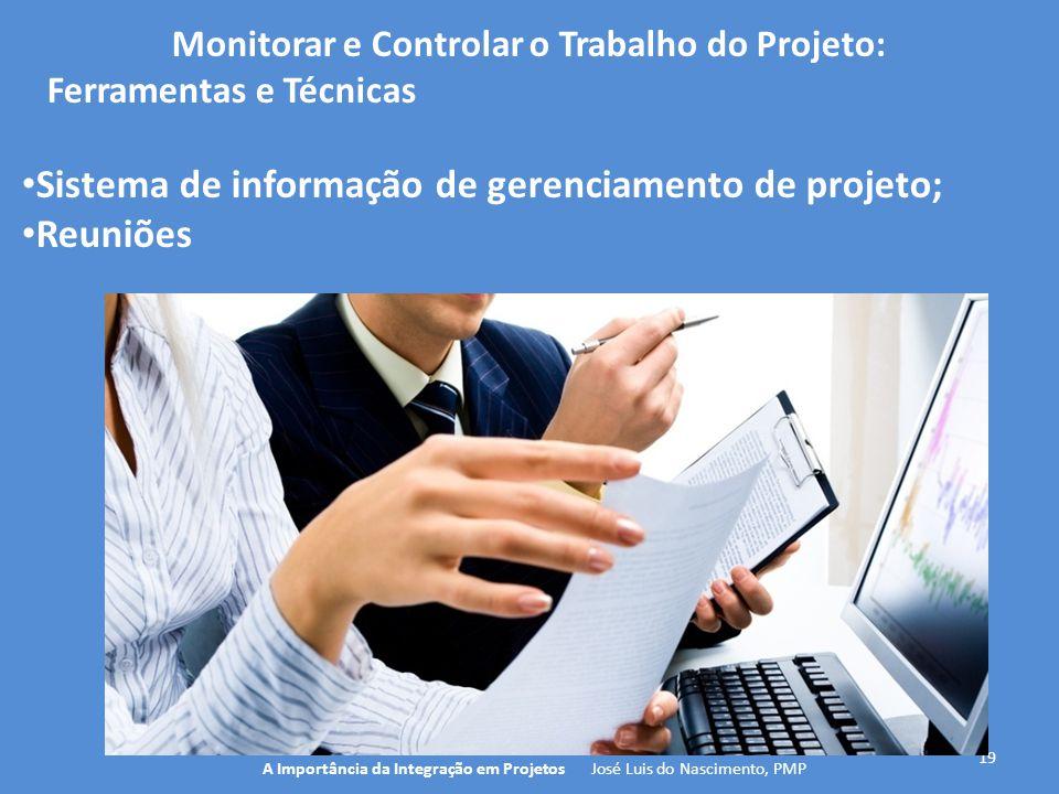 Monitorar e Controlar o Trabalho do Projeto: