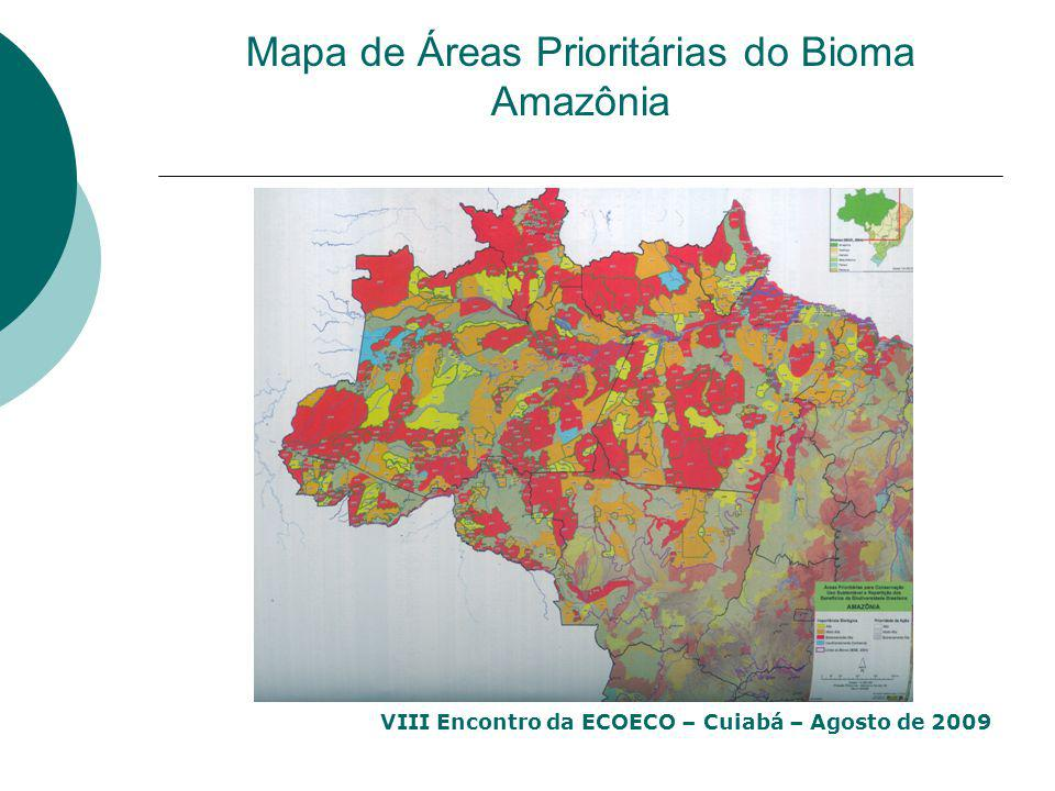 Mapa de Áreas Prioritárias do Bioma Amazônia