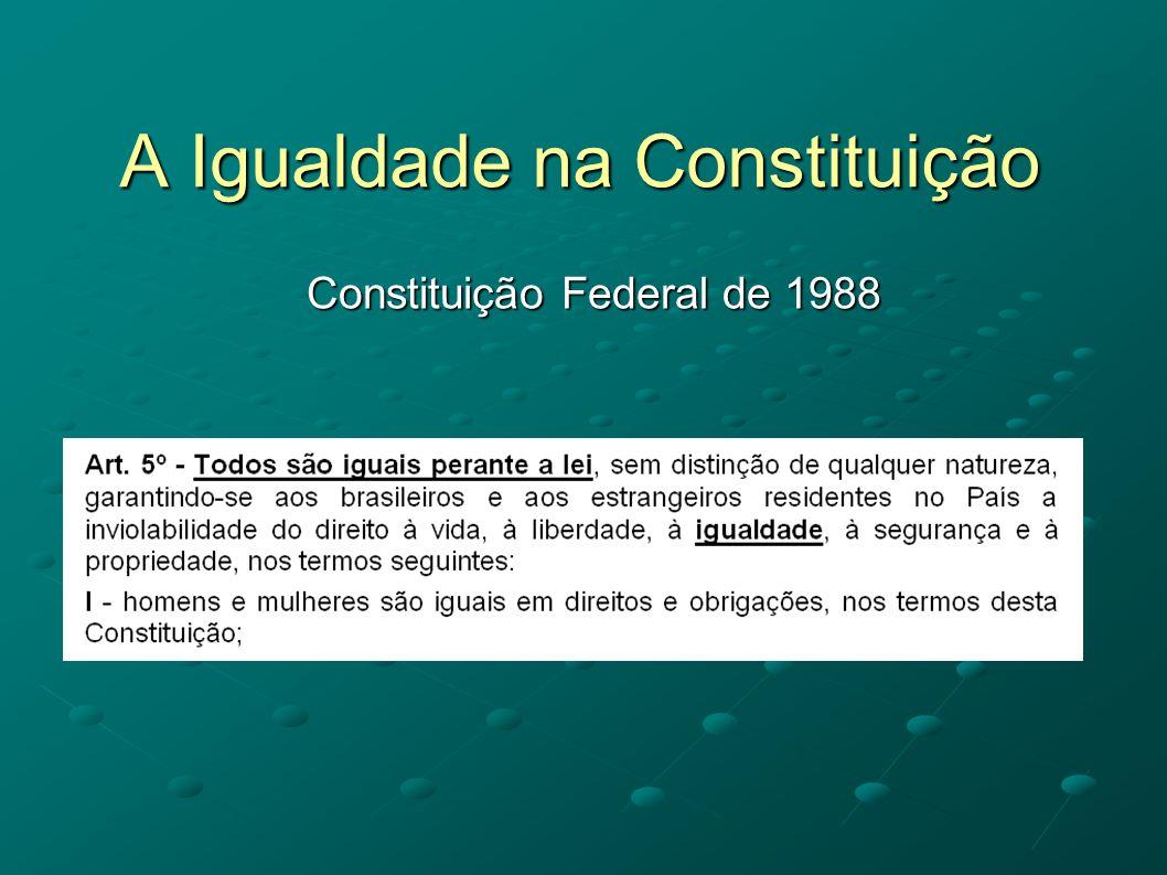 A Igualdade na Constituição