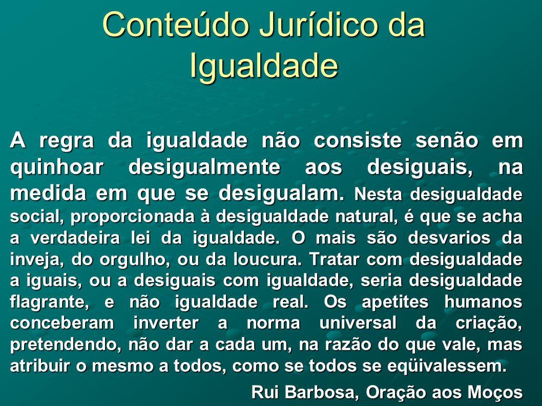 Conteúdo Jurídico da Igualdade