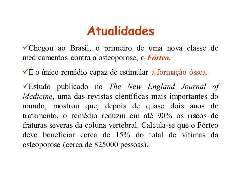 Atualidades Chegou ao Brasil, o primeiro de uma nova classe de medicamentos contra a osteoporose, o Fórteo.