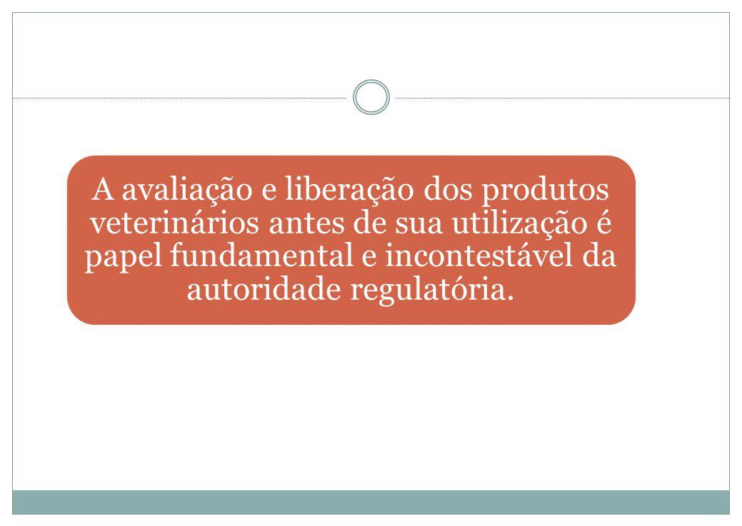 A avaliação e liberação dos produtos veterinários antes de sua utilização é papel fundamental e incontestável da autoridade regulatória.