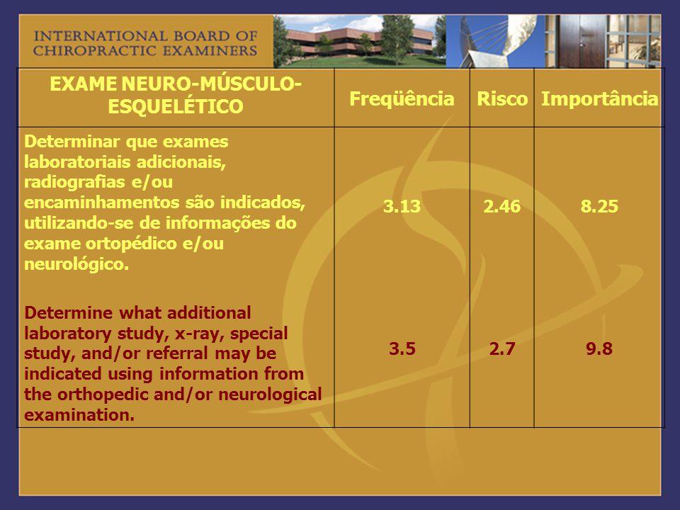 EXAME NEURO-MÚSCULO-ESQUELÉTICO