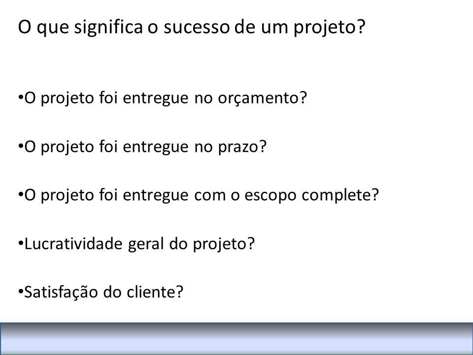 O que significa o sucesso de um projeto