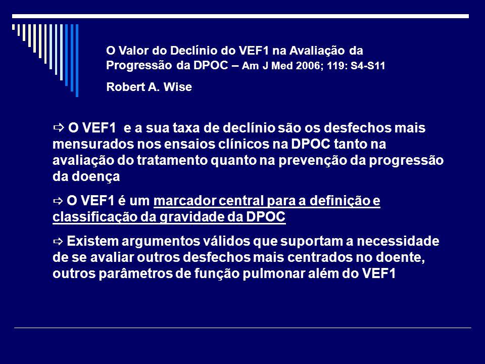 O Valor do Declínio do VEF1 na Avaliação da Progressão da DPOC – Am J Med 2006; 119: S4-S11
