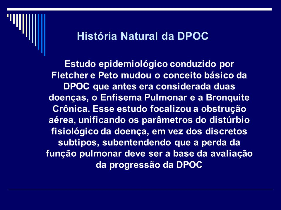 História Natural da DPOC
