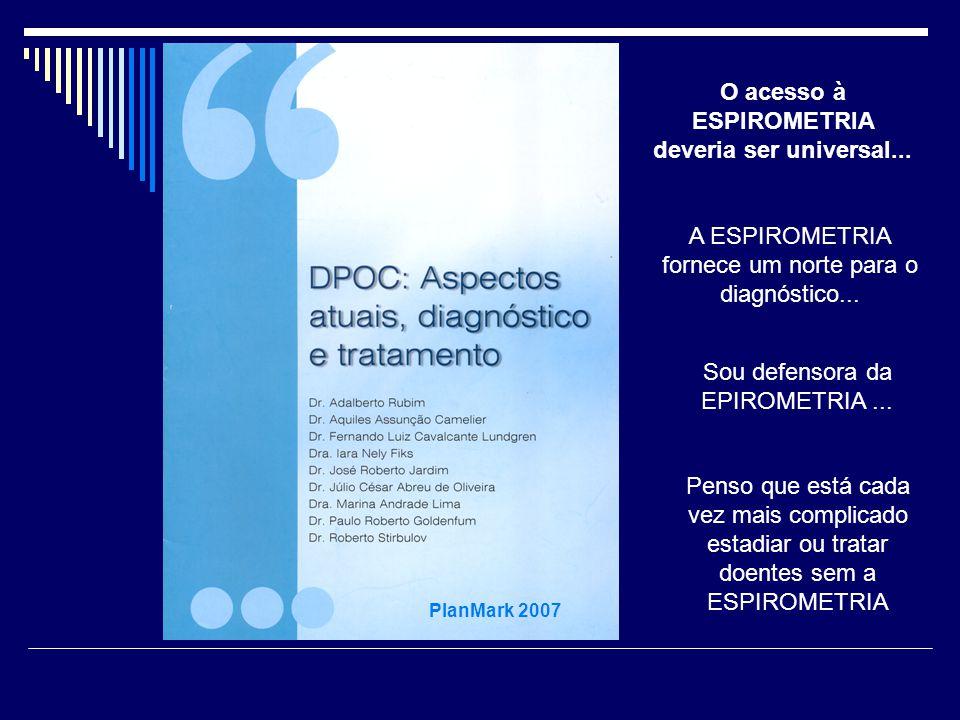 O acesso à ESPIROMETRIA deveria ser universal...