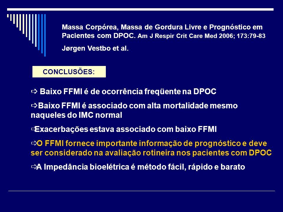  Baixo FFMI é de ocorrência freqüente na DPOC