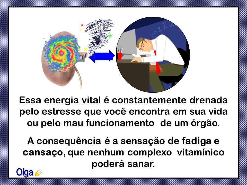 Essa energia vital é constantemente drenada pelo estresse que você encontra em sua vida ou pelo mau funcionamento de um órgão.