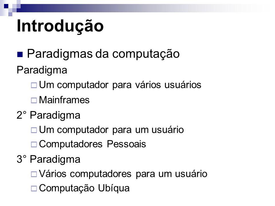 Introdução Paradigmas da computação Paradigma 2° Paradigma