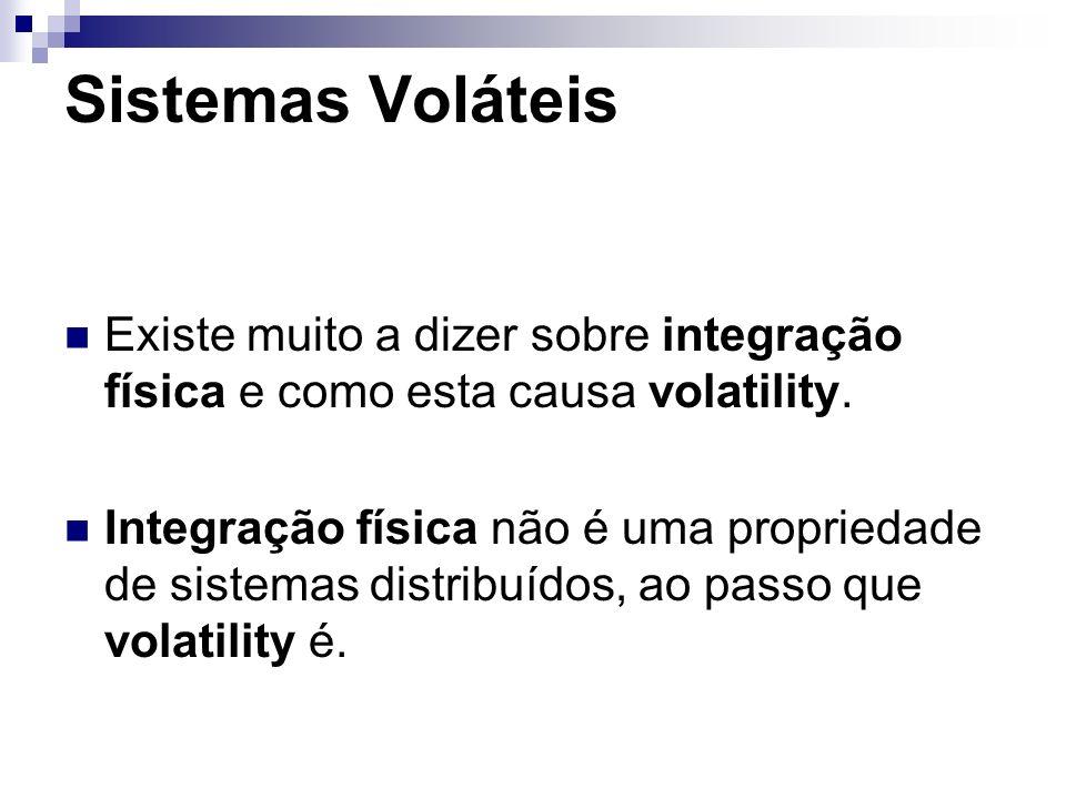 Sistemas VoláteisExiste muito a dizer sobre integração física e como esta causa volatility.