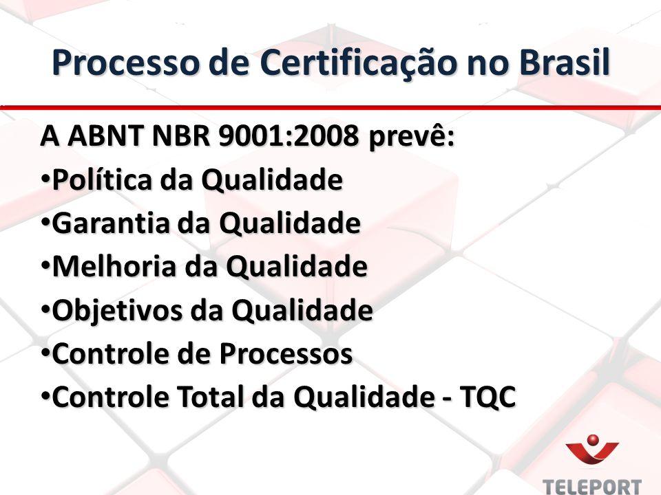 Processo de Certificação no Brasil
