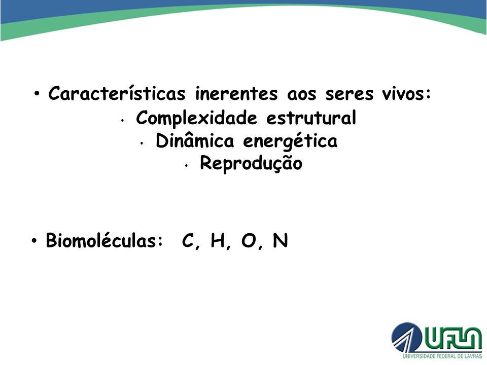 Características inerentes aos seres vivos: Complexidade estrutural