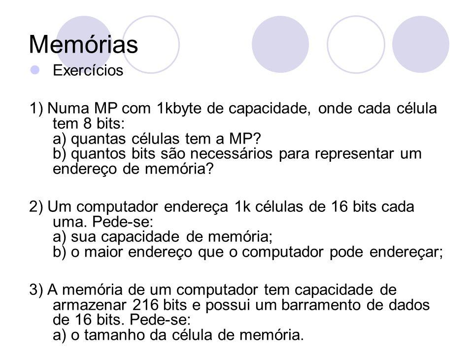 Memórias Exercícios.