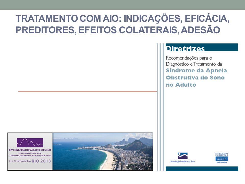 Tratamento com AIO: indicações, eficácia, preditores, efeitos colaterais, adesão