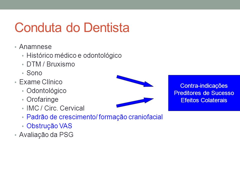 Conduta do Dentista Anamnese Histórico médico e odontológico