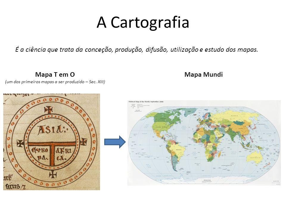(um dos primeiros mapas a ser produzido – Sec. XIII)