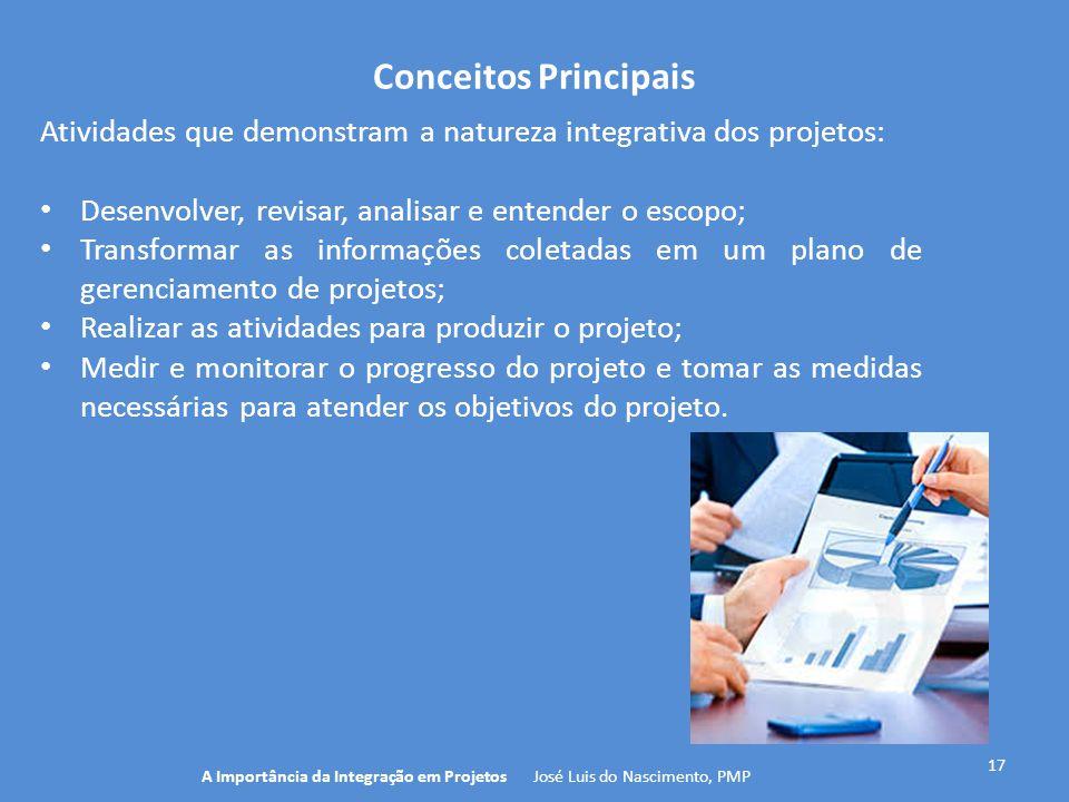 A Importância da Integração em Projetos José Luis do Nascimento, PMP