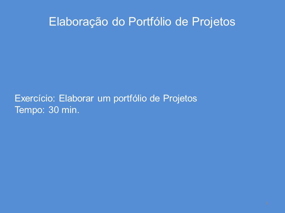 Elaboração do Portfólio de Projetos