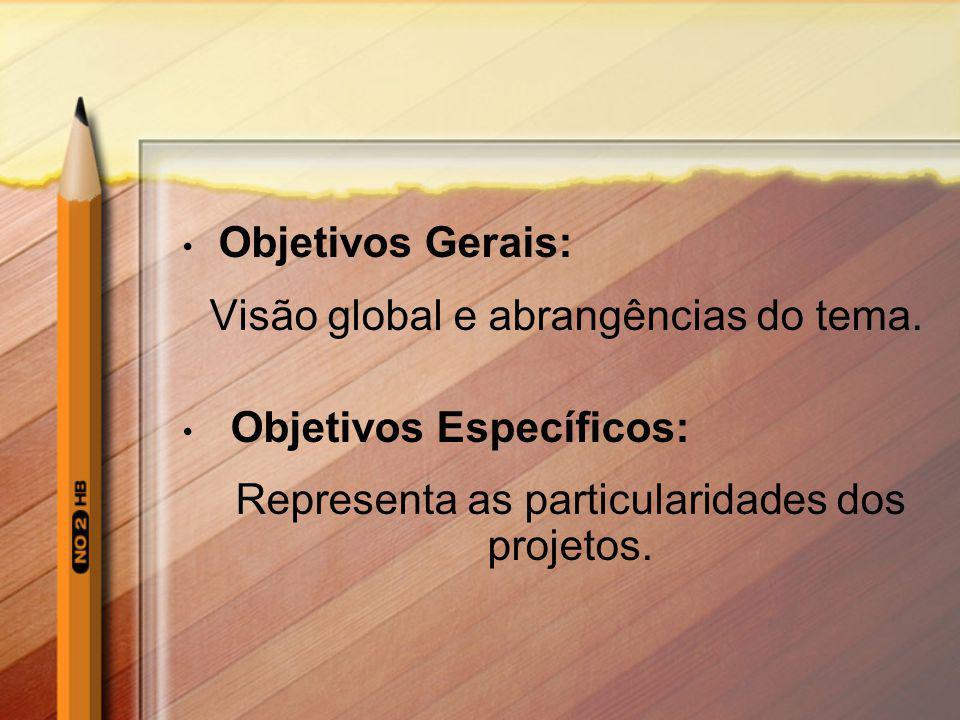 Visão global e abrangências do tema. Objetivos Específicos: