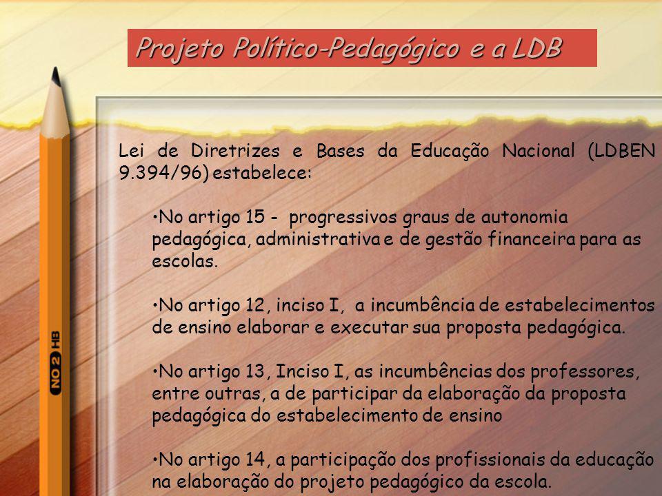 Projeto Político-Pedagógico e a LDB