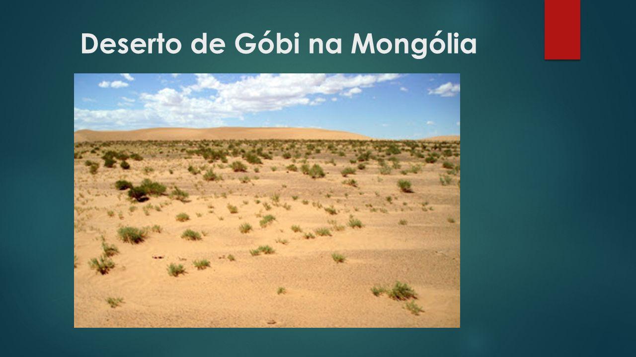 Deserto de Góbi na Mongólia