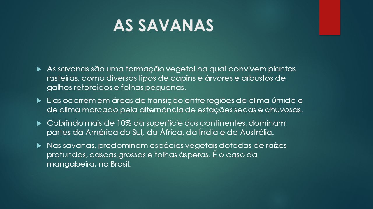 AS SAVANAS