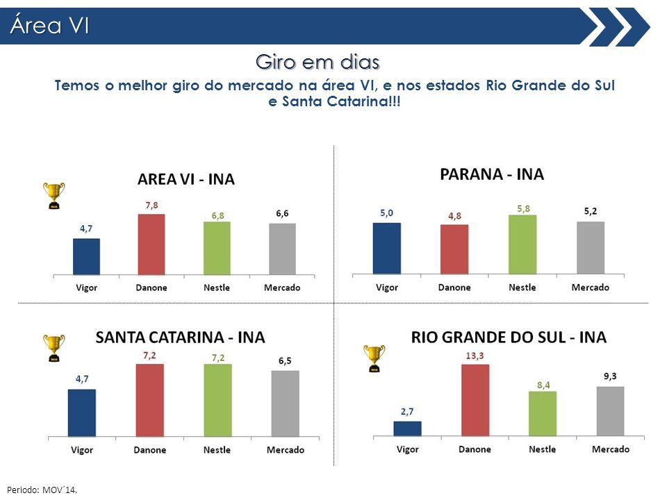 Área VI Giro em dias Total Brasil