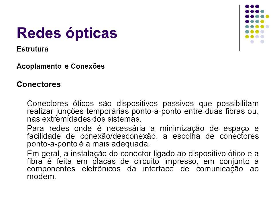 Redes ópticas Conectores