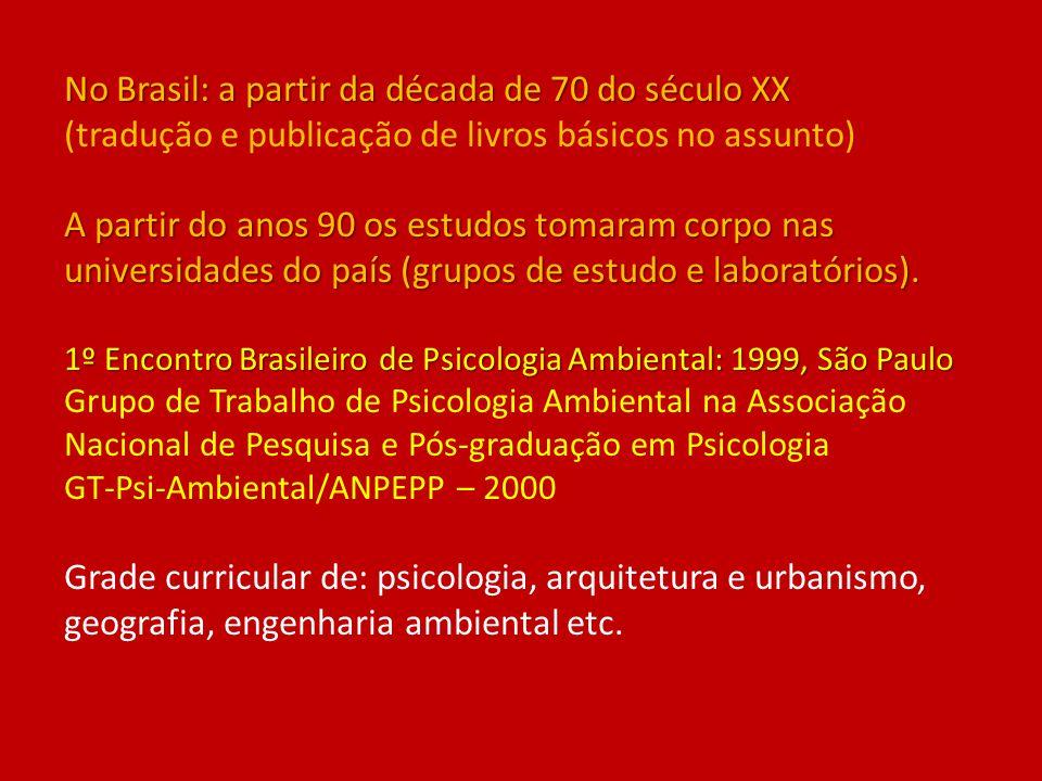 No Brasil: a partir da década de 70 do século XX (tradução e publicação de livros básicos no assunto) A partir do anos 90 os estudos tomaram corpo nas universidades do país (grupos de estudo e laboratórios).