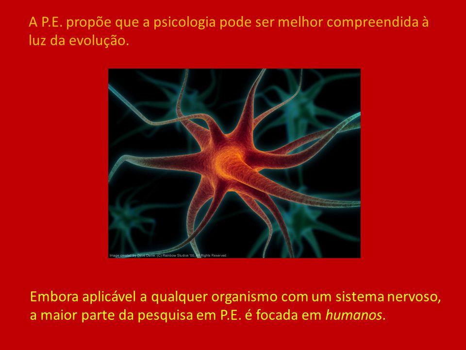 A P.E. propõe que a psicologia pode ser melhor compreendida à luz da evolução.