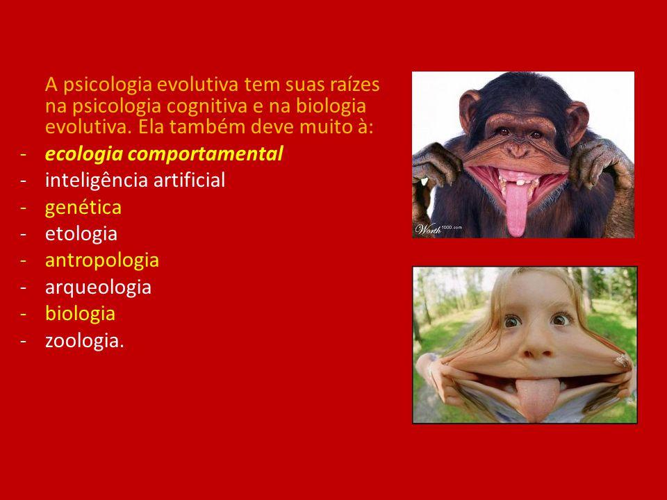 A psicologia evolutiva tem suas raízes na psicologia cognitiva e na biologia evolutiva. Ela também deve muito à: