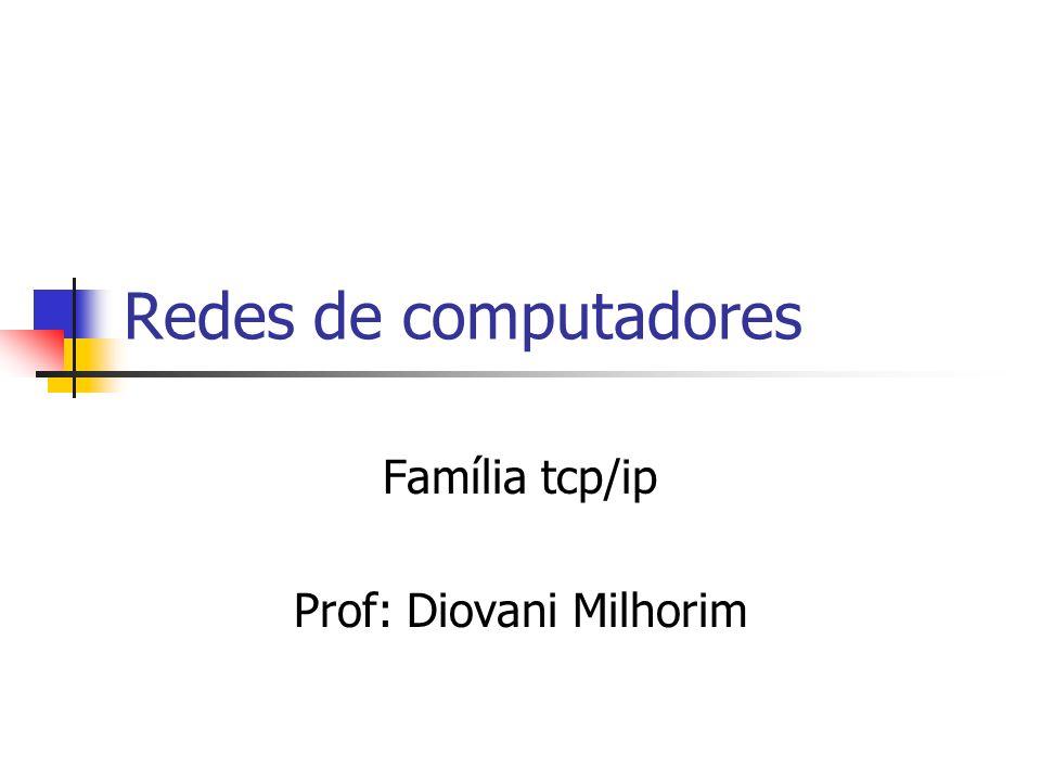 Família tcp/ip Prof: Diovani Milhorim