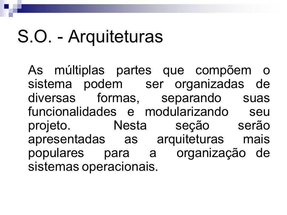 S.O. - Arquiteturas